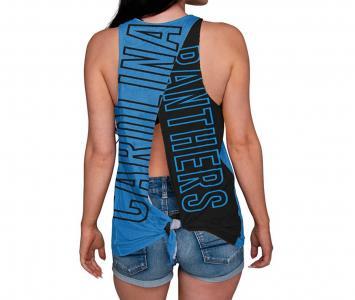 Women's Sleeveless Fashion Top Carolina Panthers
