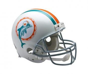 Full Size Football Helmet Miami Dolphins